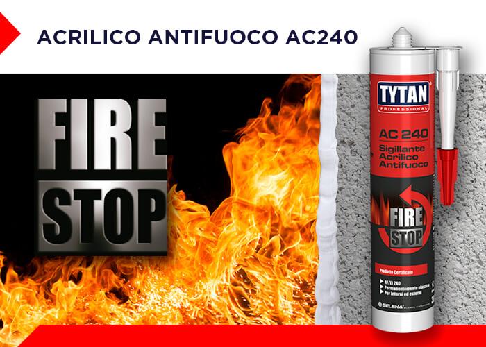 SIGILLANTE ACRILICO ANTIFUOCO AC 240 Mobile